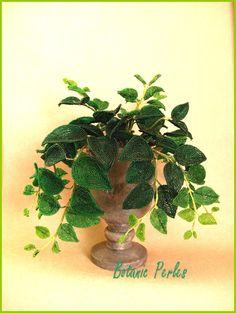 Plante verte grandeur nature en perles de rocaille - Philodendron : Accessoires de maison par botanic-perles