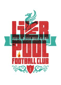 I´m always glad to have the chance to work on a football project. I love football and I love illustration, so imagine when you combine them.This is part of Football Columnist first issue, a new fanzine about FC Liverpool. Typography Letters, Typography Logo, Graphic Design Typography, Hand Lettering, Logo Design, Print Design, Liverpool Football Club, Liverpool Fc, Liverpool Tattoo