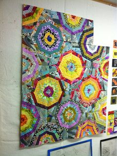 Awesome spiderweb quilt