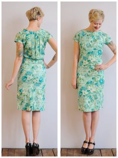 1950s Dress // Waterlily Dress // vintage 50s by dethrosevintage, $89.00
