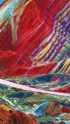 china nature The Zhangye Danxia Landform Geological Park ~ UNESCO World Heritage Site ~ in Gansu Province Zhangye Danxia Landform, Wonderful Places, Beautiful Places, China Travel, Science And Nature, Places Around The World, Natural Wonders, Amazing Nature, Belle Photo
