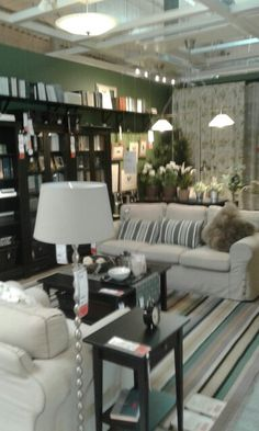 Pretty sitting room from Ikea.