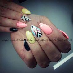 Nails pastele stiletto