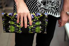 Givenchy printed clutch bag