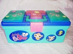 Littlest Pet Shop Carrying Case Storage Tackle Box Style Holds 100 Pets Hasbro 30+