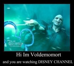 I'm Lord Voldemort from Harry Potter and the sorcerer's stone, and you are watching disney channel! Memes Do Harry Potter, Harry Potter Film, Harry Potter Fandom, Harry Potter Tumblr Funny, Harry Potter Spells List, Harry Potter Disney, Potter Facts, Lord Voldemort, Harry Potter Jokes