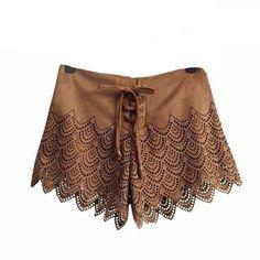 Eyelet Lace Up Shorts | Shop Elettra |