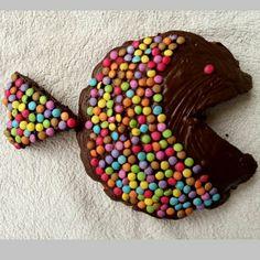 Gâteau poisson pour l'anniversaire de ma fille www.fabricoletout.blogspot.com