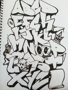 Graffiti Alphabet by ChrisFosterArt on DeviantArt