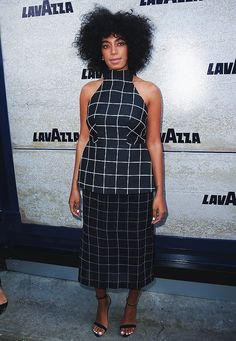 Solange Knowles at the Lavazza Marquee on Derby Day at Flemington Racecourse in Melbourne, Australia.
