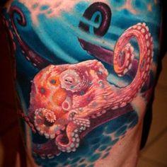осьминог в морской пучине фото татуировки