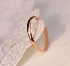 Perda la promozione dei soldi all'ingrosso titanium acciaio oro rosa placcato anti-allergia di nozze paio smooth anello donna uomo gioielli di moda