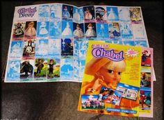 Álbum de pegatinas de la muñeca Chabel. Había que comprar los chicles de Chabel para conseguir las pegatinas. Me parece que si completabas el álbum entero te regalaban una muñeca. ¿Alguien lo consiguió?