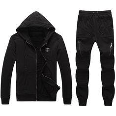 4f80be9cebb81f Replica Philipp Plein PP fashion sports brand men clothing set male  sportswear tracksuit set jacket pants