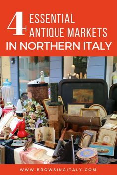 Italy Travel Tips. Heather Carlson from Merry Feast Italian Food + Travel shares her tips + advice for visiting 4 favorite antique markets in Northern Italy, including market tips, maps, restaurant recommendations nearby and more. (Flea Markets in Cremona, Turin, Bergamo, and Milan Italy.) www.browsingitaly.com