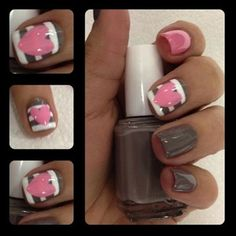 Valentine's day nails. - Click image to find more nail art posts