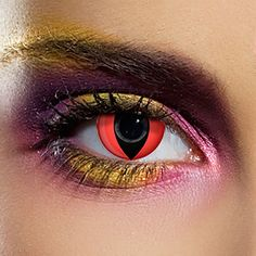 EDIT 90 Day UV Coloured Contact Lenses (Red Cat's Eye)