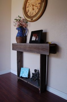 Skinny Console Table Reclaimed Cedar Wall Table Cottage Decor. 30x6x30 small apartments or entryway on Etsy, $125.00
