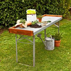 Try this exquisite Vintage Galvanized Potting Table ($700) to form a special outdoor workstation for all your gardening endeavors.