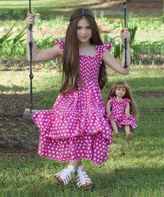 Look what I found on #zulily! Lilli Lovebird Pink Polka Dot Angel Dress & Doll Dress - Girls by Lilli Lovebird #zulilyfinds