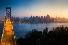 San Francisco skyline sunset photo print / by CaliAdventurePhoto