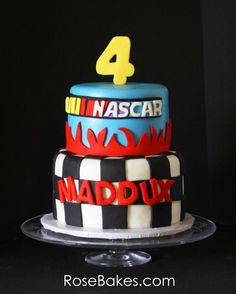 Inspired Picture of Nascar Birthday Cake Nascar Birthday Cake Nascar Birthday Cake Rose Bakes Nascar Party, Nascar Cake, Birthday Cake Roses, Cool Birthday Cakes, Birthday Cupcakes, Birthday Parties, Birthday Wishes, Race Car Birthday, Monster Truck Birthday