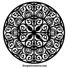 Free Circle Damask Floral Round Ornament Vector Files