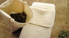 Eco-friendly reusable tea bags from Natural Linens