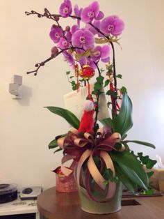 My CNY flowers 2014 - happy year of the horse!