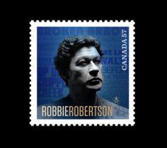 Robbie Robertson Stamp by David Jordan Williams, via Behance