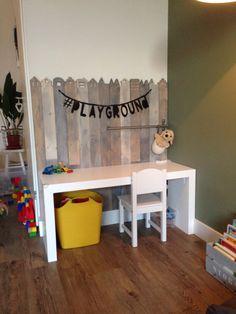 Speelhoekje met wordbanner #playground