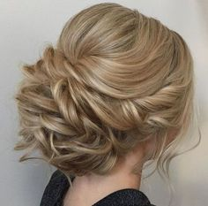 Featured Hairstyle: Heidi Marie (Garrett) Villa (Hair and Makeup Girl); Wedding hairstyle idea. (wedding hair ideas)