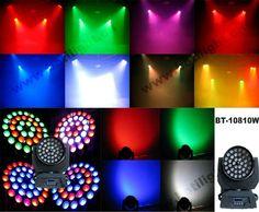 36pcs 10 watt DMX led moving head wash light zoom $300~$399