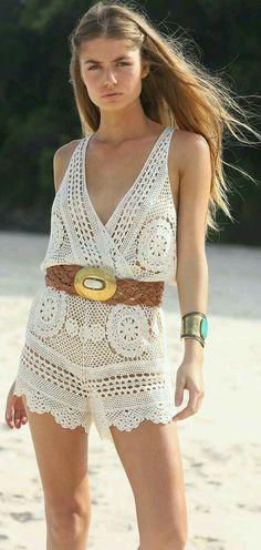 Beach romper crochet