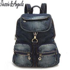 Vintage Women Bag school backpacks teenage girls backpack campus bags travel backpacks girls shoulder bag denim bag for women