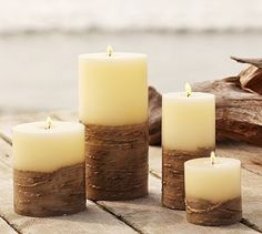 Beachcomber Rope Pillar Candles from Pottery Barn
