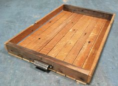 reclaimed wood tray / wood serving tray, barn wood box with handles