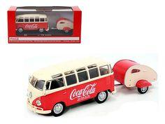 1962 Volkswagen Samba Bus 100 Years Anniversary of the Coca Cola Bottle 1/43 by Motorcity Classics