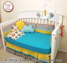 You are my sunshine nursery Custom Nursery Bedding handmade by Lisa @ www.BumpAndBean.com.