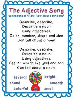 Third Grade Bookworm: Adjective Antics, Games, a FREEBIE, and a GIVEAWAY!