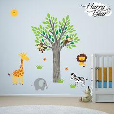 Sunshine Jungle Animal Wall Stickers