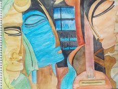 abstract Radha Krishna Meera