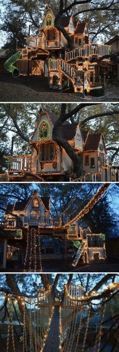 Light tree house Tree Forts, Home Room Design, Tree Lighting, Tree Houses, Dream Rooms, House Rooms, Dream Life, Grid, Places To Go