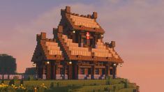 Viking / Nordic inspired house I build recently on a survival server :) : Minecraft Mobs Minecraft, Craft Minecraft, Minecraft Kingdom, Minecraft House Plans, Minecraft Structures, Minecraft Houses Survival, Easy Minecraft Houses, Skins Minecraft, Minecraft House Designs
