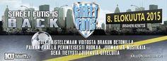 """Street Futis tulee jälleen!     Kallion Urheilijat ry järjestää 8. päivä elokuuta Helsingin Brahen kentällä """"Kallio Street Futis"""" -nimellä kulkevan katujalkapal... http://puoliaika.com/street-futis-tulee-jalleen/ ( #brahenkenttä #kalliostreet2015 #kalliostreetfutis #kallionurheilijat #streetfutis2015)"""