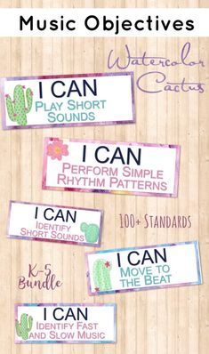 Watercolor Cactus theme I Can Statements Statements for MusicTeachers Classroom Themes, Classroom Organization, General Music Classroom, Music Education Games, Music Lessons, Music Lesson Plans, Piano Lessons, Kindergarten Music, Piano Teaching
