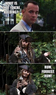 Forrest Gump & Jack Sparrow