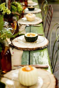 Natural Thanksgiving Decor Ideas 2014 #decorations #holidays #apartment  #living #Thanksgiving #