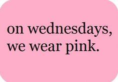On wednesdays...