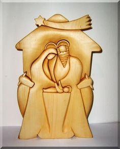 Betlém, dřevěná plastika